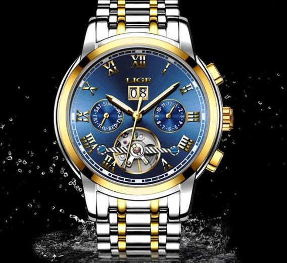 Relógio Super Luxo Masculino Melhor Presente P/dias Pães