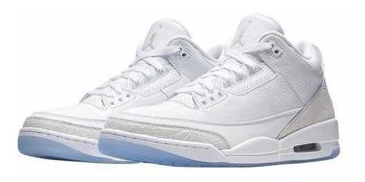 Air Jordan 3 Retro Pure White Tamanho 44