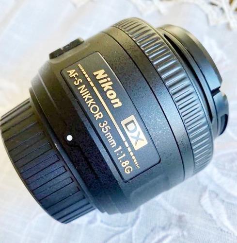 Lente Objetiva Nikon Af-s Dx 35mm F/1.8g Nova