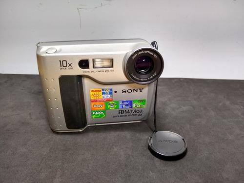Câmera Fotográfica Sony Mavica Mvc Fd75 Sucata Ler Obs 3152