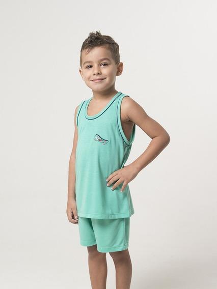 10 Unidades Pijama Camiseta Regata Liso E Estampado Infantil Atacado Revenda