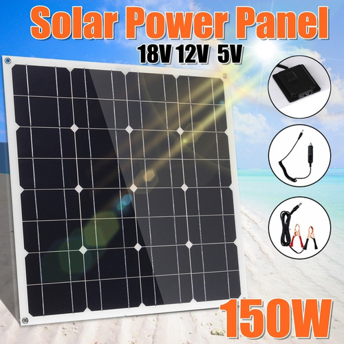 Imagen 1 de 8 de 150w 18v Flexible Eva + Mascota Monocristalino Panel Solar C