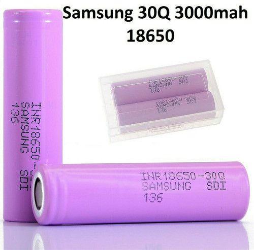 Imagen 1 de 6 de Bateria Pila Samsung Orig Inr18650 30q 3000ma Vape30a Unidad