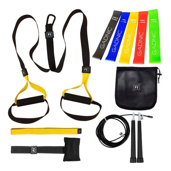 Kit Fitness Banda De Suspension + Bandas De Resistencia Gym