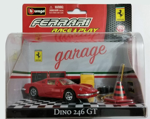 Imagen 1 de 3 de Autos Coleccion Burago Garage - Ferrari Dino 246 Escala 1:43