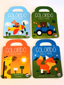 Livro Atividades - Coleção Colorido, Cole E Pinte