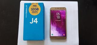 Celular Samsung J4 Dorado Impecable