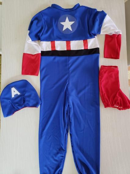 Disfraz Capitán América Niño Entero 1 Pieza / Avengers