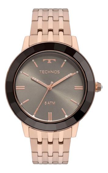 Relógio Technos Feminino Crystal Rosé Vh31aaa/4p