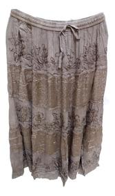 Saia Longa Indiana Estonada Com Batik - Cod. M1255
