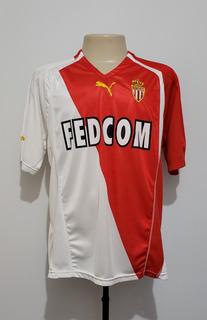 Camisa Mônaco França 2004 Home Puma #10 Chevanton Tamanho Gg