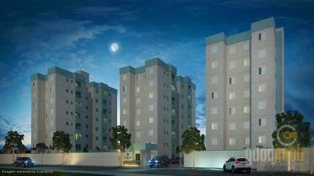 Apartamento 2 Dormitórios 1 Suíte, 61 M² Jardim Leocádia - Ap0013