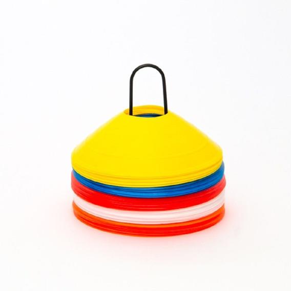 Kit Mini Cones De Agilidade Com 50 Peças Coloridas Vollke