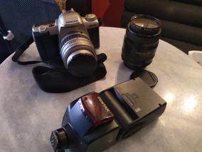Câmera Pentax 35mm Mz-50 Com Flash Af- 360 E Lente Macro 100