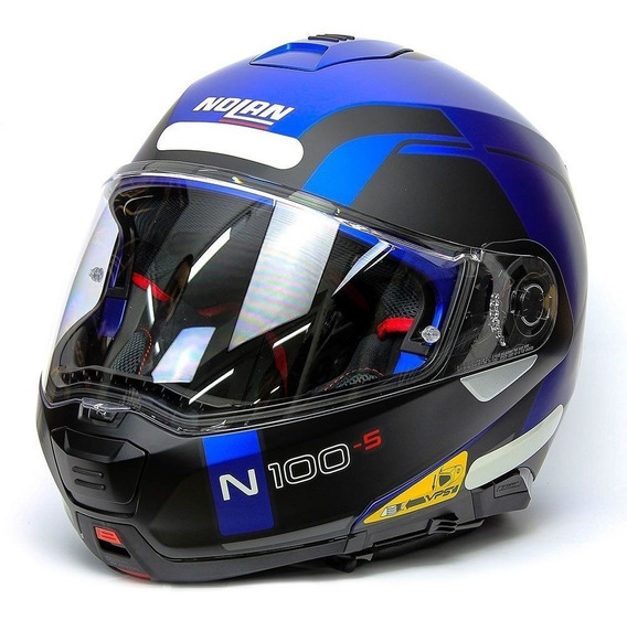 Capacete Nolan N100-5 Consistency Azul Fosco 60-l