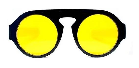 Lente De Sol Redondo Amarillo, Glasses G3, P6485