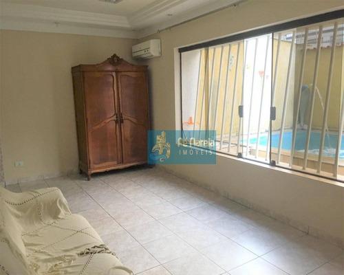 Sobrado  3 Dormitórios E Piscina À Venda Por R$ 700.000 - Canto Do Forte - Praia Grande/sp - So0030