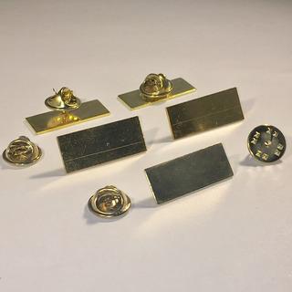 10 Bases Metálicas Para Pin De 25x10mm Baño Dorado Pines