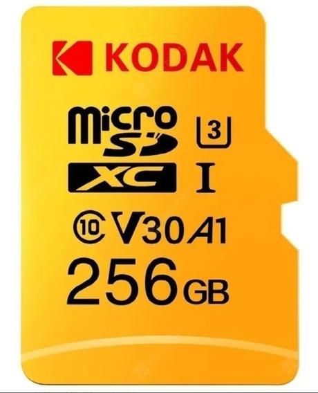 Cartão De Memória Kodak Original 256gb Grava 4k, Classe 10