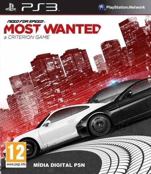 Need For Speed - Most Wanted - Game Ps3 Mídia Digital Psn