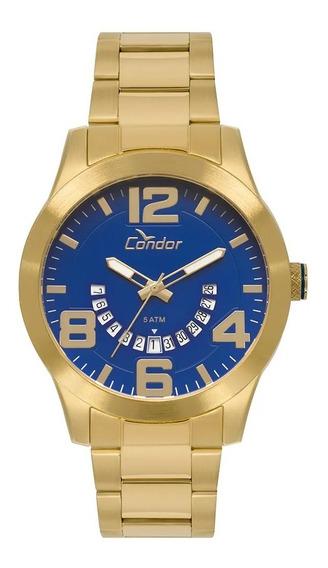 Relógio Masculino Condor Dourado Casual Original