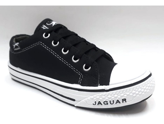 Zapatillas Lona Puntera Con Cordon Jaguar 34 Al 45 Art 320