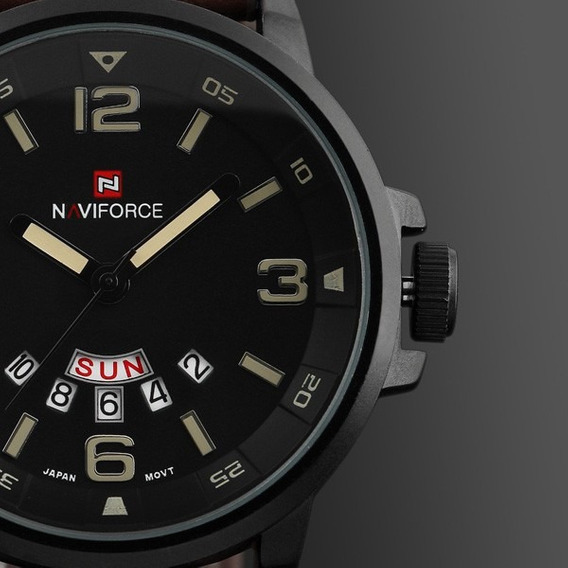 Relógio Masculino Esportivo Naviforce Analógico Top Presente