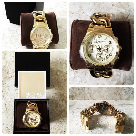 Relógio Michael Kors Gold Trançado