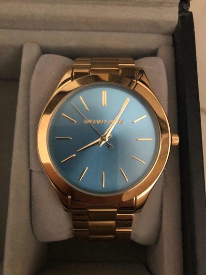 Relógio Michael Kors Runway Mk3265/4an Azul Turquesa