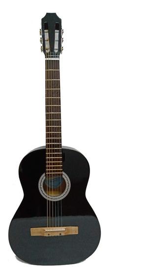 Guitarra Criolla Clasica De Estudio Color Negra