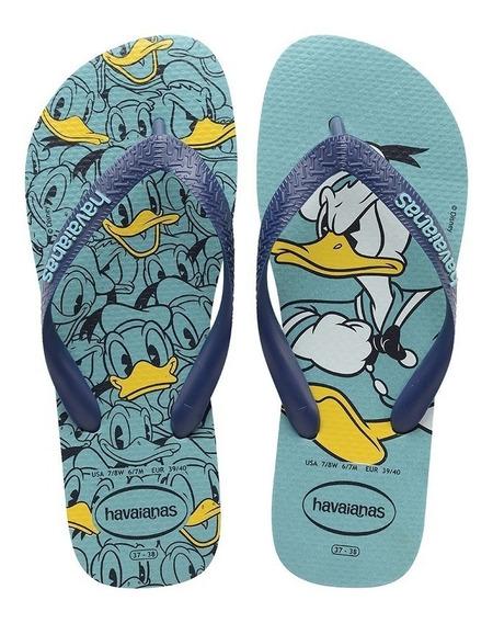 Chinelo Havaiana Disney Stylish Azul - Pato Donald Original