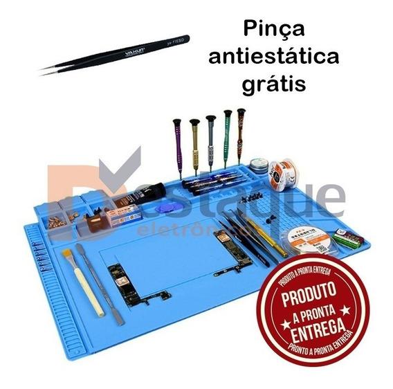 Manta Magnetica Antiestatica Silicone Azul S160 Pinça Grátis