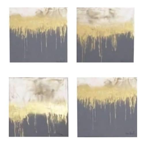 Imagen 1 de 4 de Cuadro Decorativo 4 Piezas Firmamento Këssa Muebles
