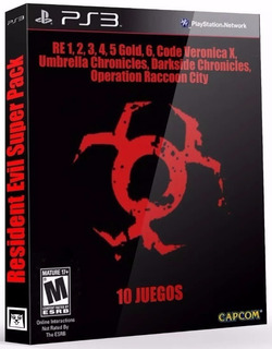 Resident Evil Collection Pack 10 Juegos - Mza Games Ps3