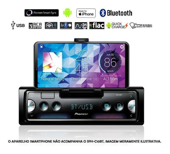 Radio Mp3 Automotivo Pioneer Sphc10bt Usb Bluetooth Smart