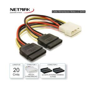 Cable Adaptador Molex A Sata-power Doble