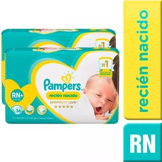 1 Paquete Pañales (36u.) Pampers Recien Nacido Rn+