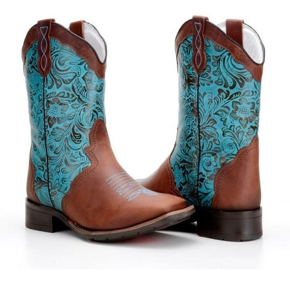 Bota Feminina Country Texana Cano Médio Capelli Boots