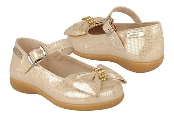Stylo Zapatos Niños Piso Niña 9008 13-14 Simipiel Oro