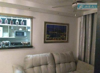 Apartamento Com 3 Dormitórios Para Alugar, 68 M² Por R$ 1.800/mês - Residencial Spazio Ponte Nova - Paulínia/sp - Ap0989
