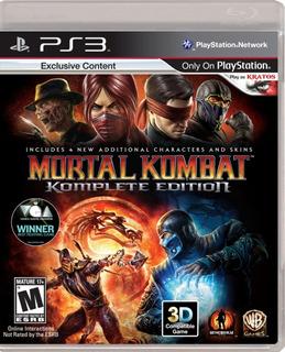 Mortal Kombat 9 Ps3 Español Komplete Edition Tenelo Ahora!!