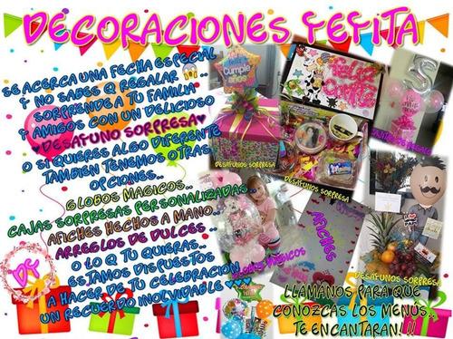 Imagen 1 de 7 de Decoracion De Fiestas, Eventos Y Desayunos Sorpresa¿