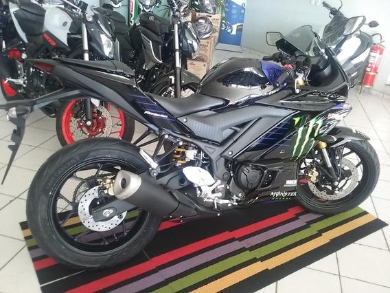 Yamaha Yzf R3 Monster Abs Preta 2020 0km