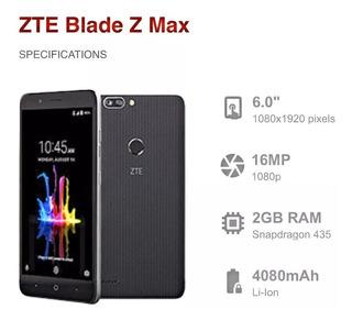 Zte Blade Z Max + 32 Gb + Libre De Fabrica
