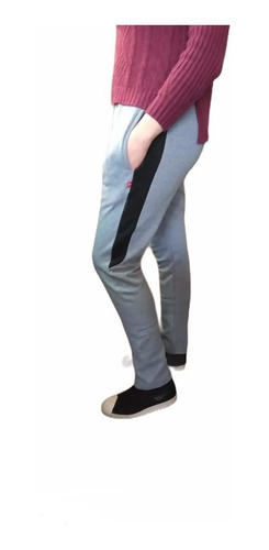 Pantalón Jogging Mujer Tiro Alto De Frisa Invierno Calidad