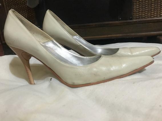 Zapato Stilleto Dama En Cuero Legítimo