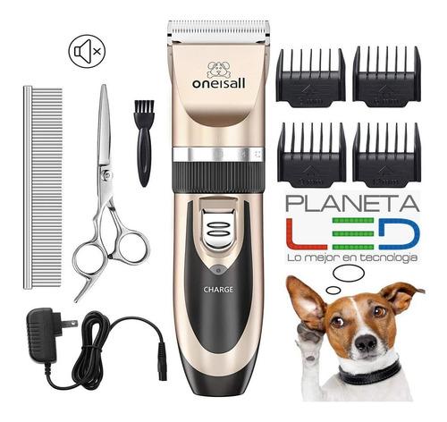 Imagen 1 de 5 de Kit De Rasuradora Para Mascotas + Cortauñas + Accesorios Pro