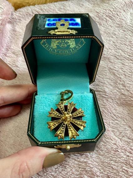 Pingente Charm Juicy Couture Coroa Dourado Original