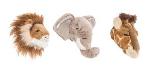 Imagem 1 de 10 de Safari Box Com 3 Mini Cabeças - Wild & Soft Ws-500