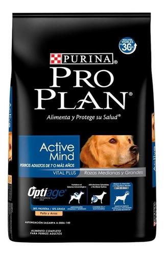 Imagen 1 de 1 de Alimento Pro Plan Optiage Active Mind 7+ Para Perro Senior De Raza Mediana/grande Sabor Pollo/arroz En Bolsa De 13kg
